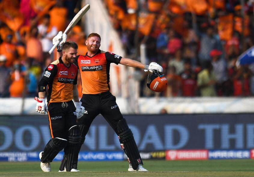 Warner and Bairstow to open for SRH