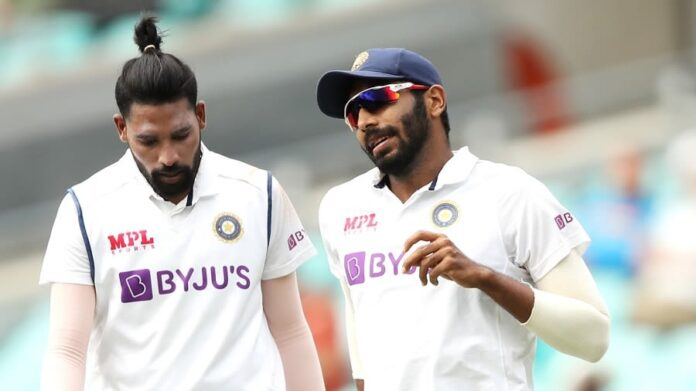 Bumrah and Siraj to play in WTC final