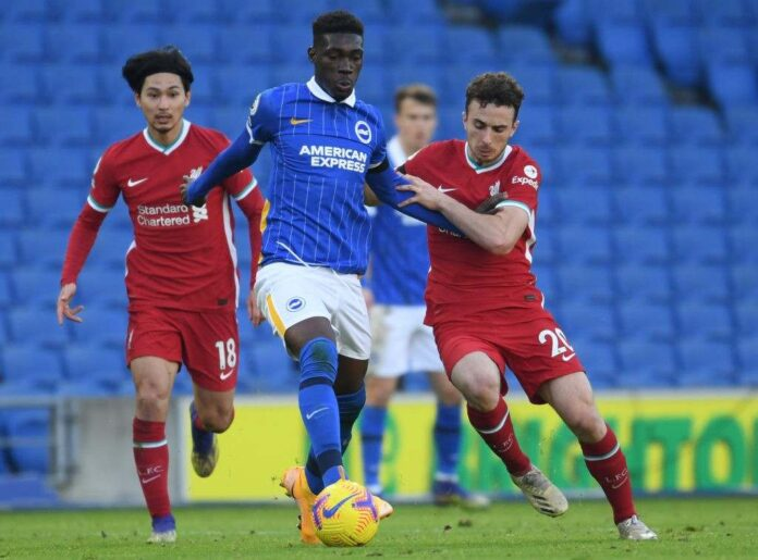Liverpool and Arsenal interested in signing Brighton Midfielder Yves Bissouma.