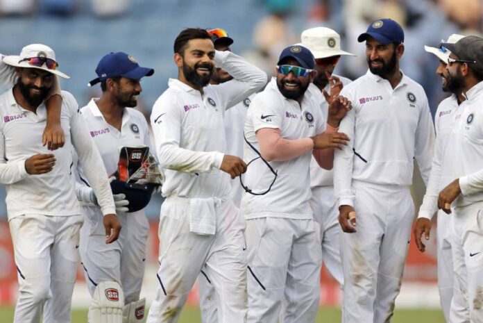Indian side play an intra-squad match