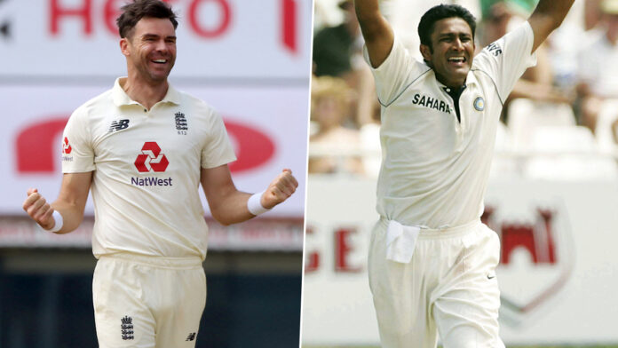 Anderson to surpass Kumble in test wickets