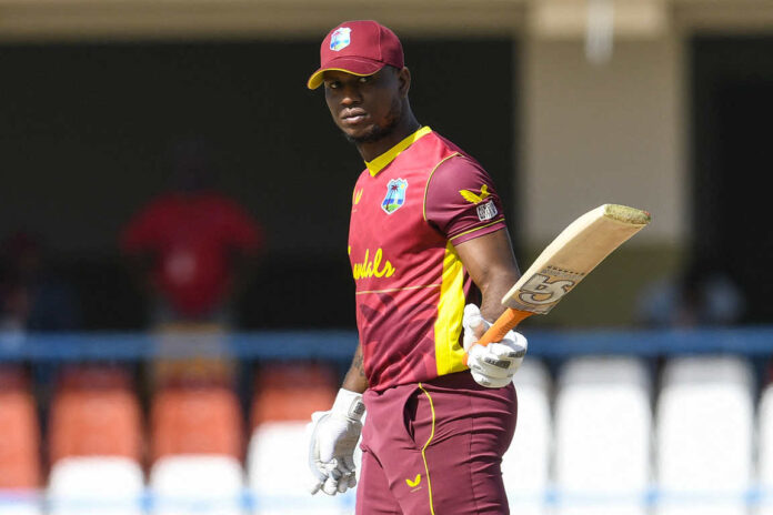 Evin Lewis scored 71 runs and helps WI to win the first T20