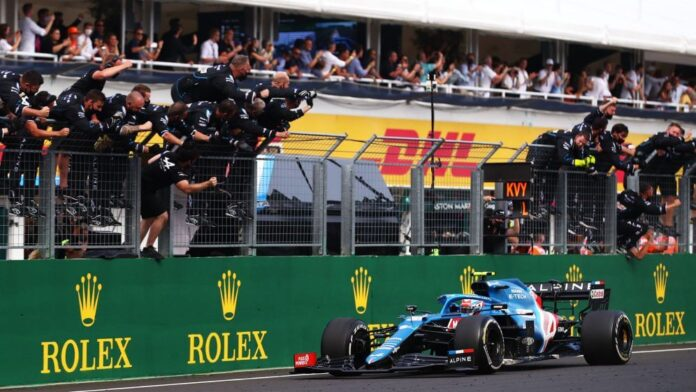 Esteban Ocon takes his first victory in F1 after a chaotic Hungarian GP