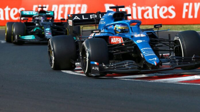 Fernando defended for 10 laps against Hamilton guaranteeing victory for Ocon