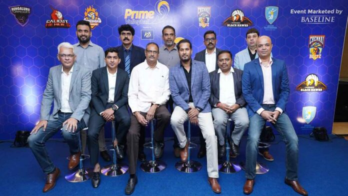 The committee behind the launch of the Prime Volleyball League.