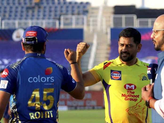 The opening match is between Chennai Super Kings and Mumbai Indians.