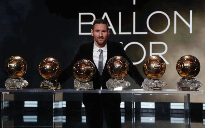 Lionil Messi leading the race win the Ballon d'Or 2021.